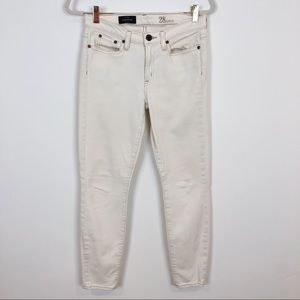 J CREW OFF-WHITE TOOTHPICK SKINNY JEANS